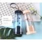 耐�崴�杯���w�^�V透明泡茶塑料杯子��提手��意���w防漏透明塑料杯